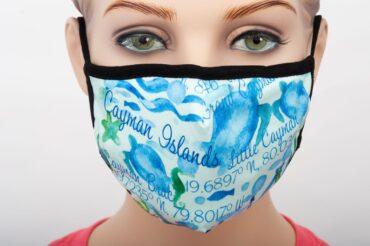 Cayman Islands Watercolour Print Mask